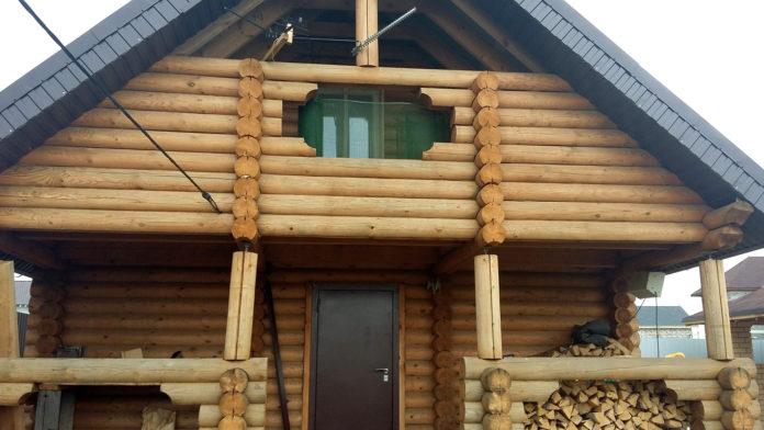 Герметизация деревянной бани (до герметизации)