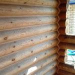 Герметизация деревянной бани (после)