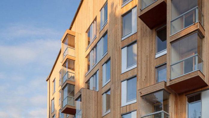Многоэтажный деревянный дом